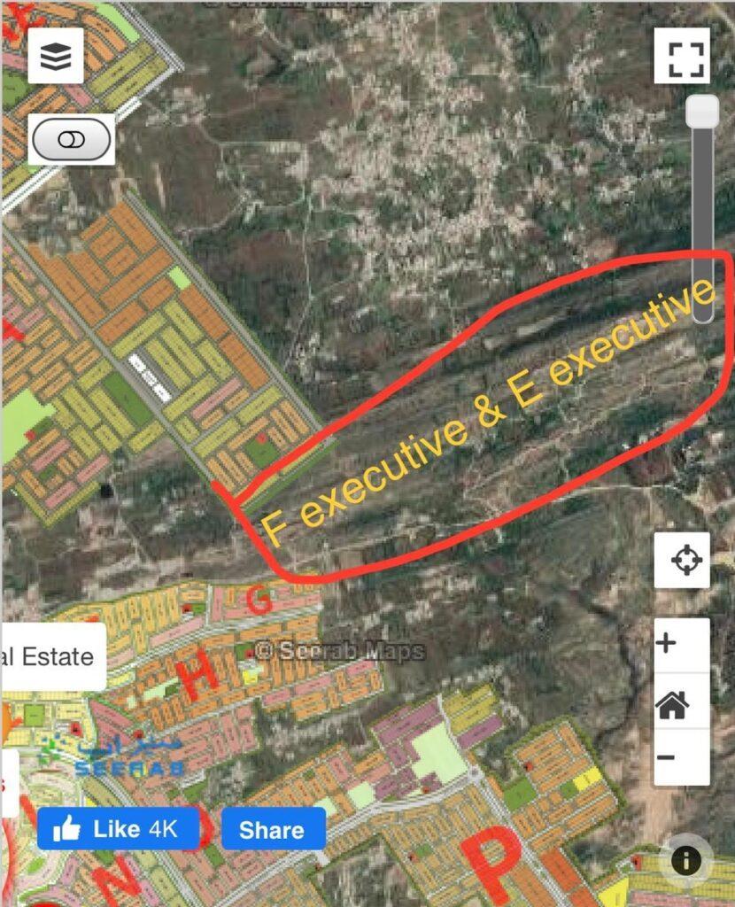 New F & E Block Location Map Gulberg Islamabad