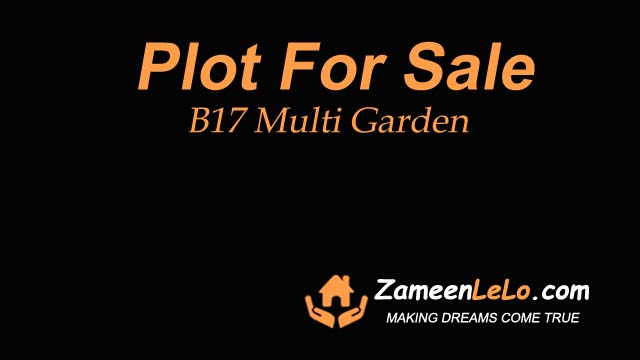 Plot for sale in B17 Multi Garden