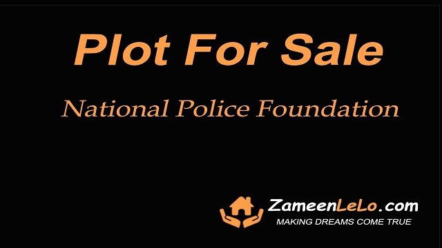 Plot for sale in National Police Foundation