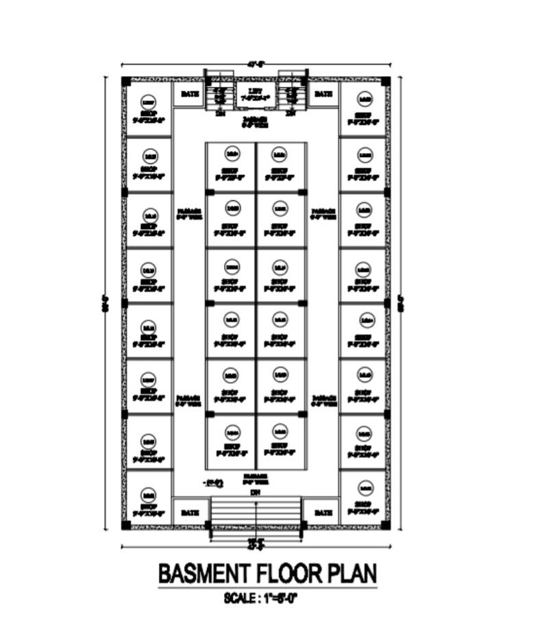 The Royal Mall Residencia basement plan