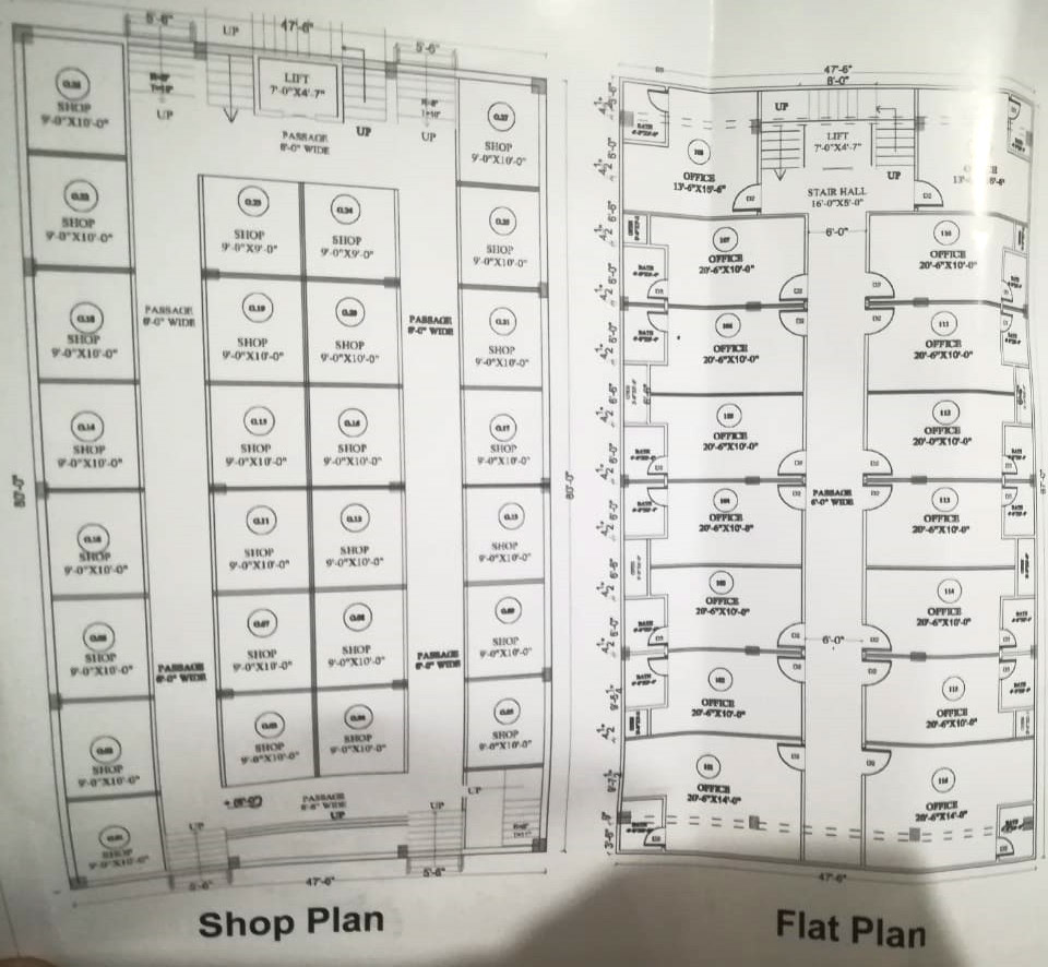 The Royal Mall Residencia flat plan map