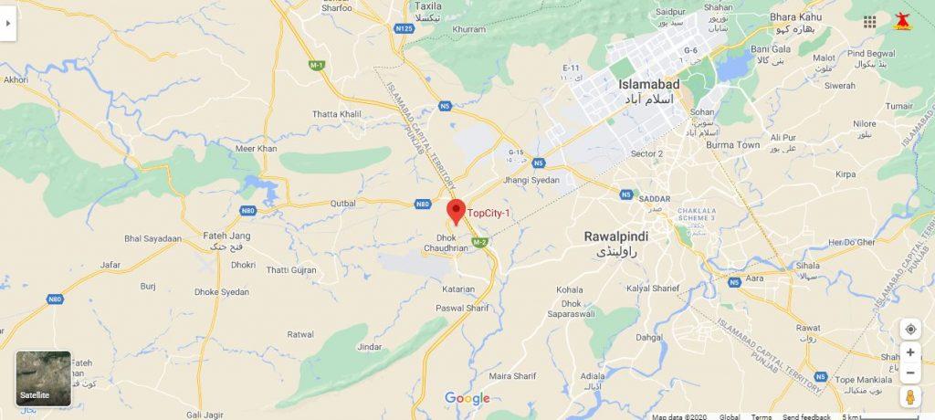 Top-city-Islamabad-location-Google-Map
