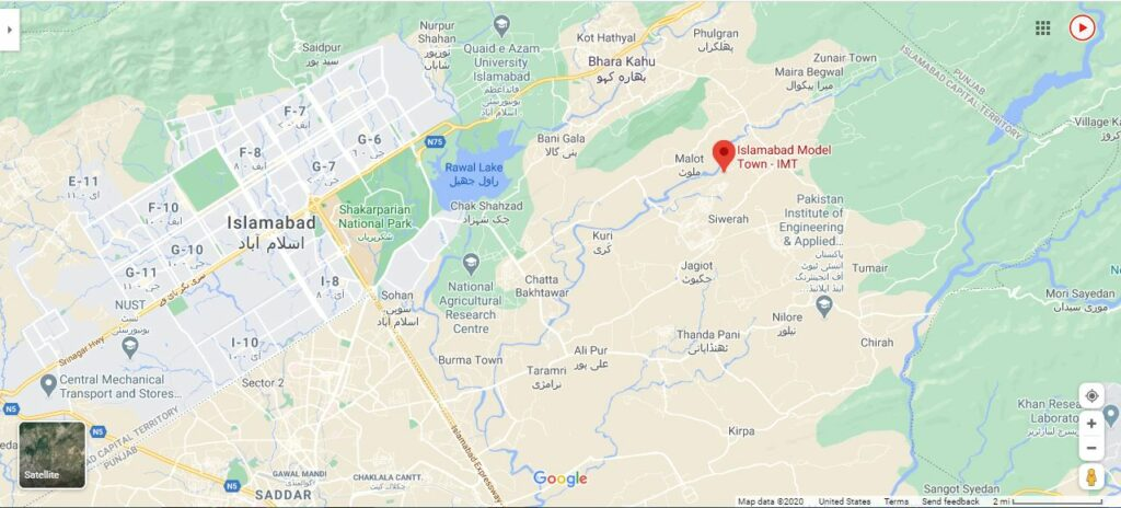 Islamabad-Model-Town-Location-Map