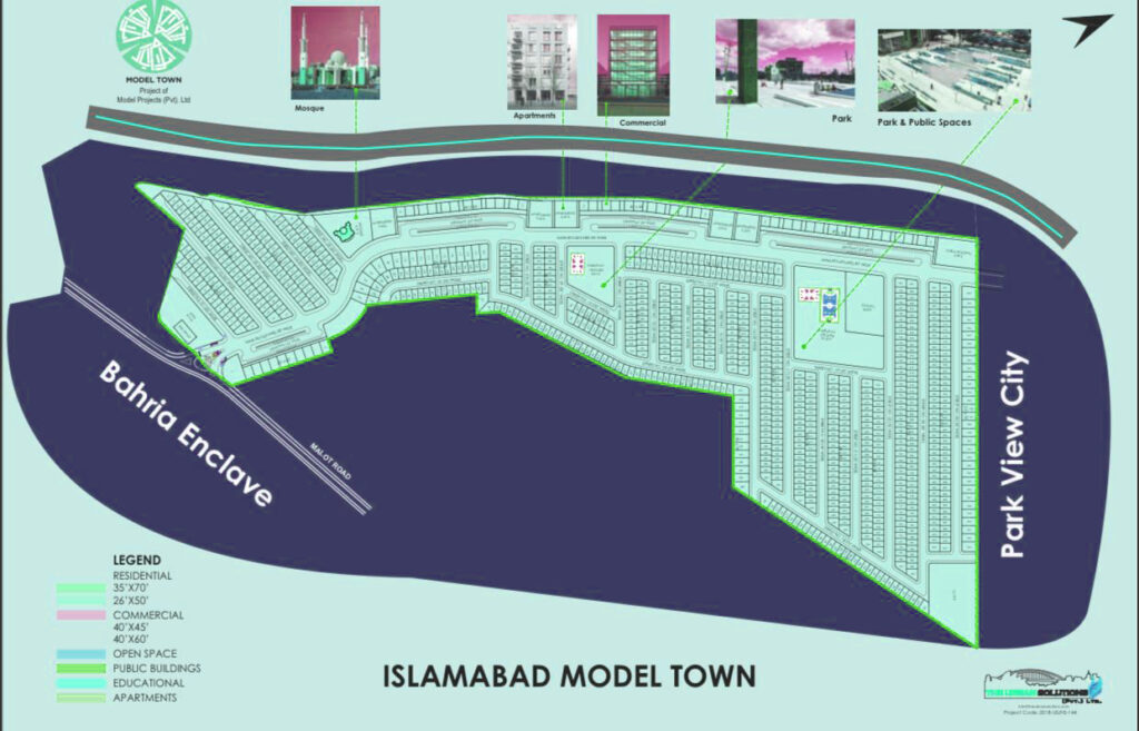Islamabad Model Town Master Map