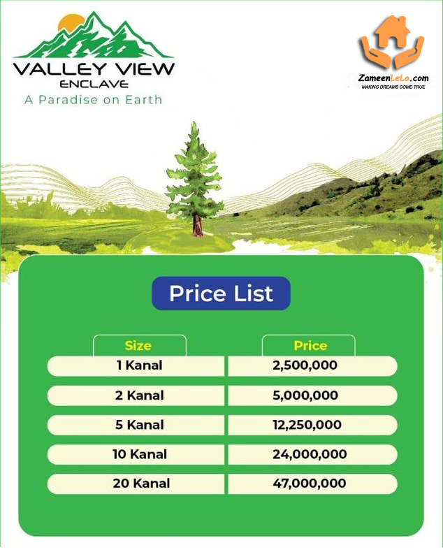 Valley-View-Enclave-islamabad-Payment-Plan