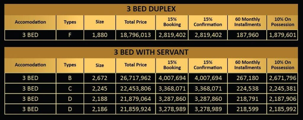 3-Bed-Duplex-apartment-payment-plan-Vone-Hotel-and-Apartments-islamabad