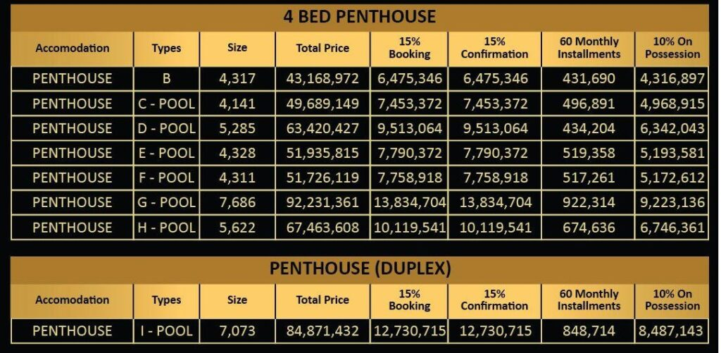 4-Bed-Penthouse-payment-plan-Vone-Hotel-and-Apartments-islamabad