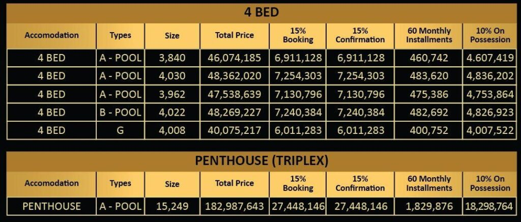 4-Bed-Penthouse-triplex-payment-plan-Vone-Hotel-and-Apartments-islamabad