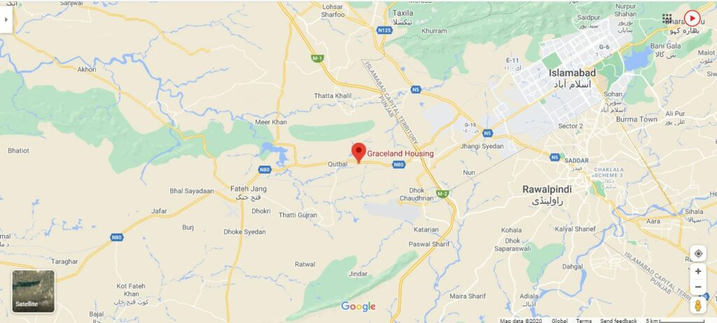Graceland-Housing-Islamabad-Location-Map