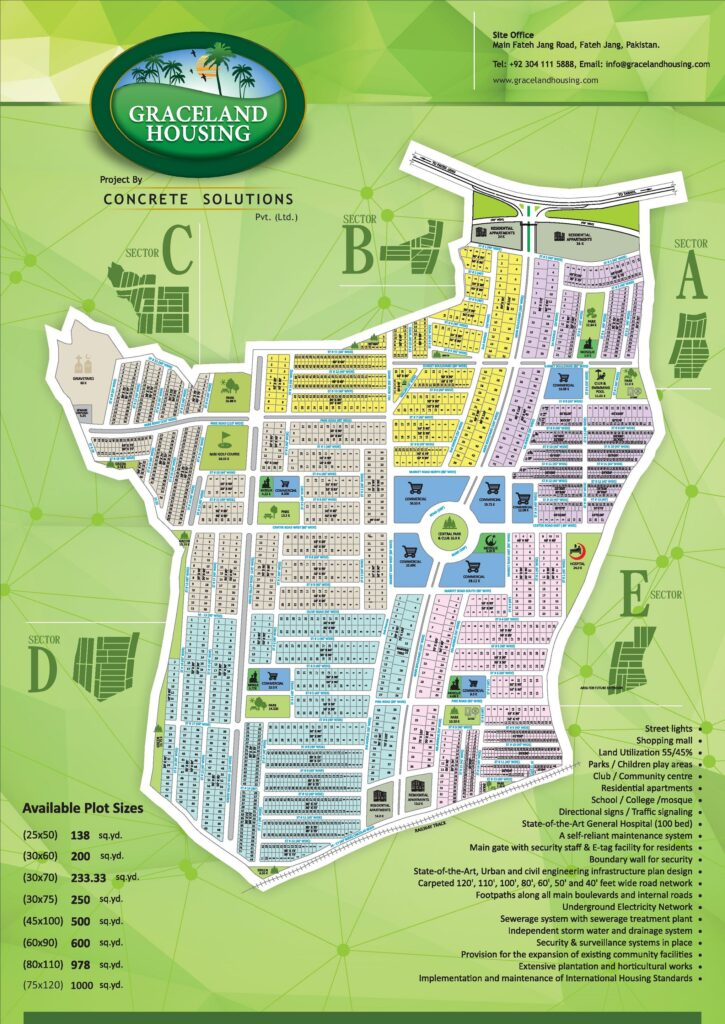 Graceland Housing Islamabad Master Plan Map