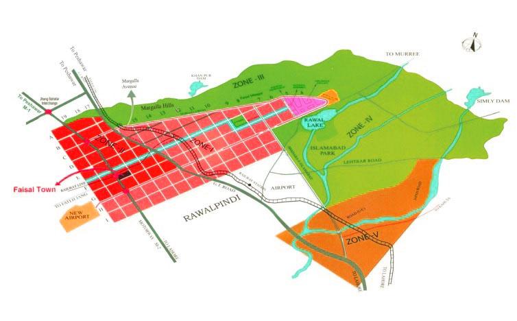 Location Map Faisal Town Islamabad