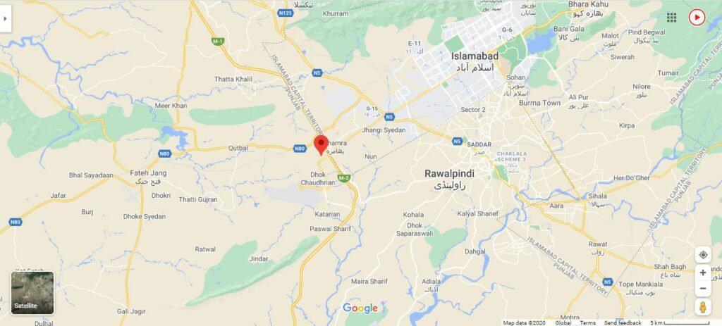Mumtaz-City-islamabad-Location-Map