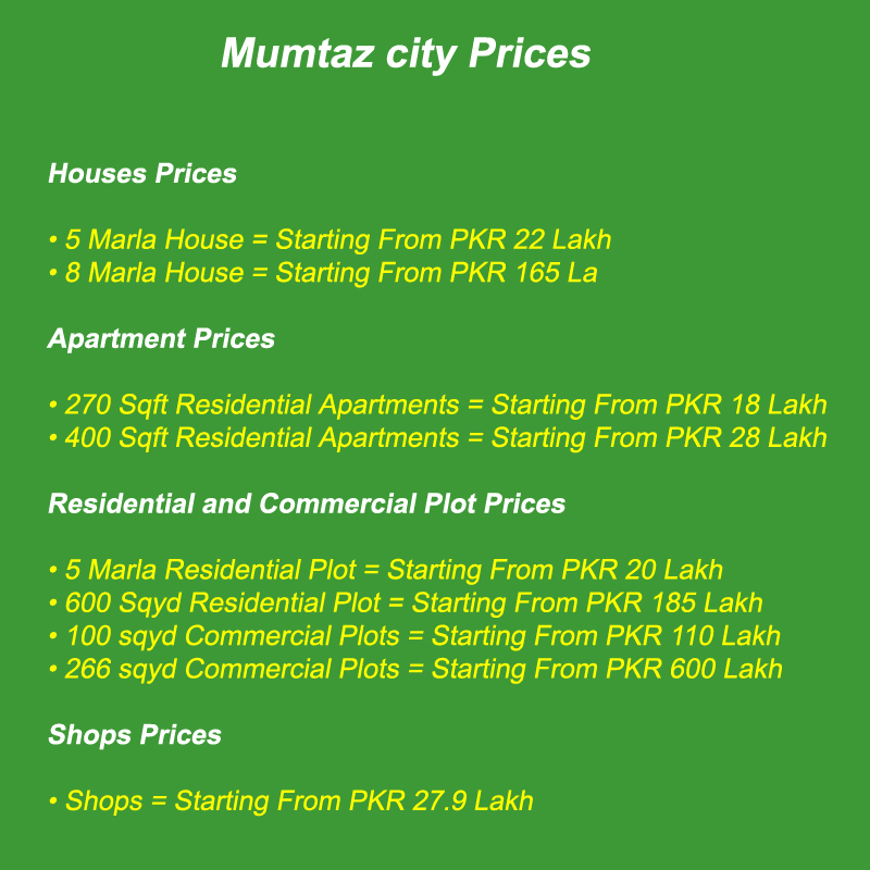 Mumtaz-City-islamabad-Prices-Payment-Plan