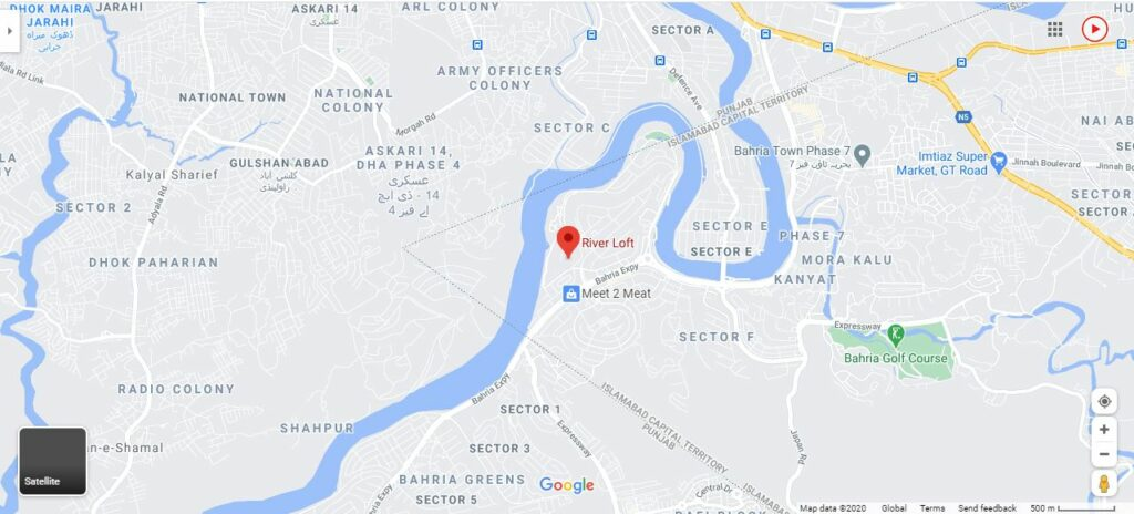 River Loft islamabad Location Map