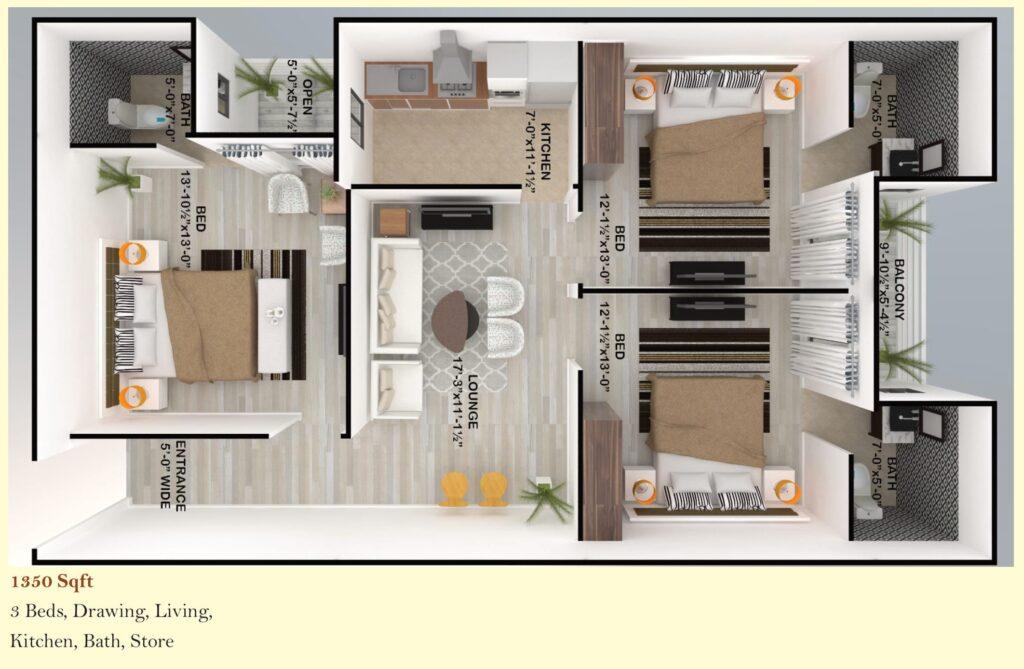 Skyline-Apartment-FGEHA-Islamabad-Layout-Plan-1350-sqft