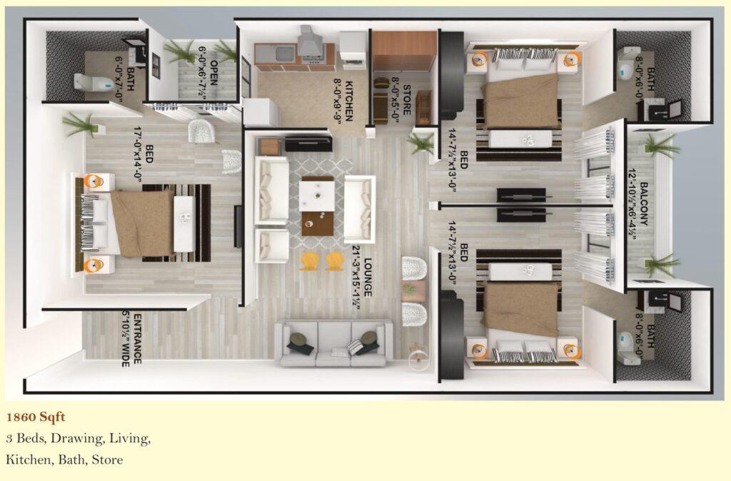 Skyline-Apartment-FGEHA-Islamabad-Layout-Plan-1860-sqft