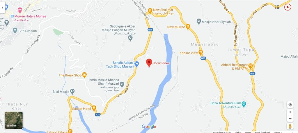 Snow-Pines-Murree-Location-Map