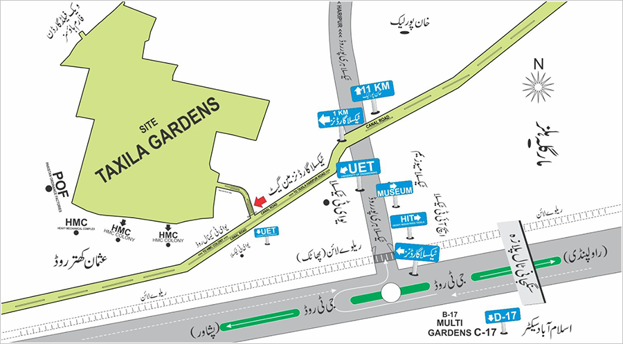 Taxila-Gardens-Location-Map