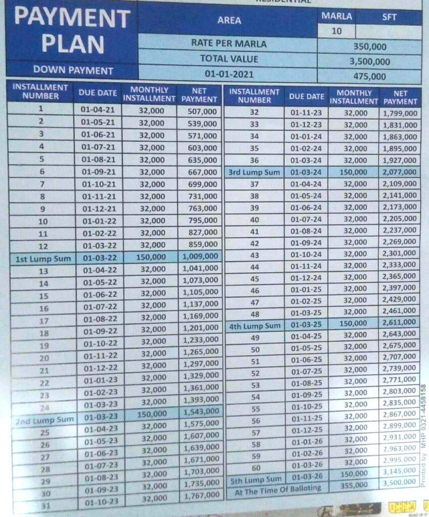 10-Marla-plot-monthly-payment-plan-al-rehman-garden-phase-7