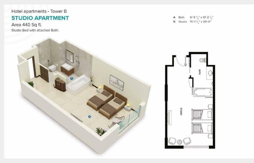 440-sqft-studio-apartment-Layout-Map-Pace-Circle-Lahore