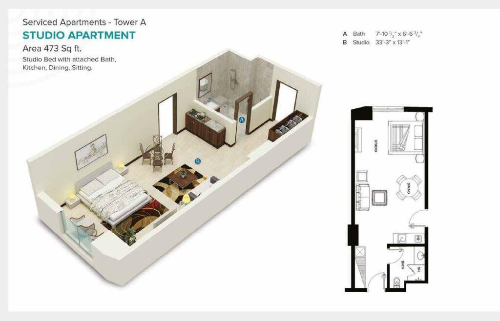 473-sqft-studio-apartment-Layout-Map-Pace-Circle-Lahore