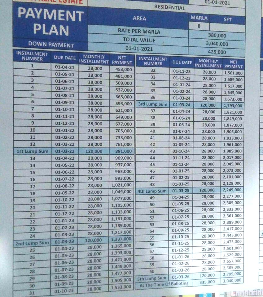 8-Marla-plot-monthly-payment-plan-al-rehman-garden-phase-7