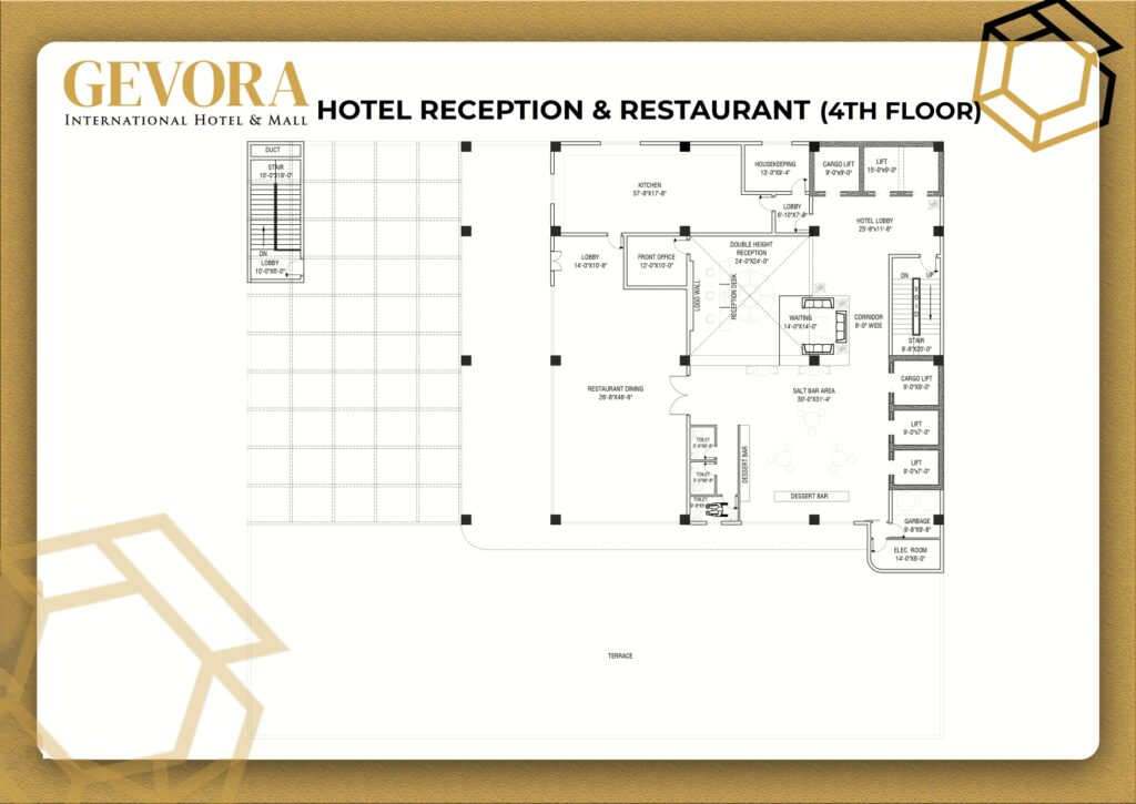 hotel and restaurant layout plan