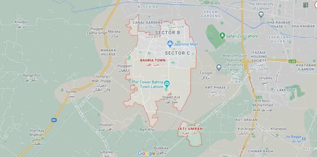 Location-Map-Bahria-Orchard-Phase-5-Lahore
