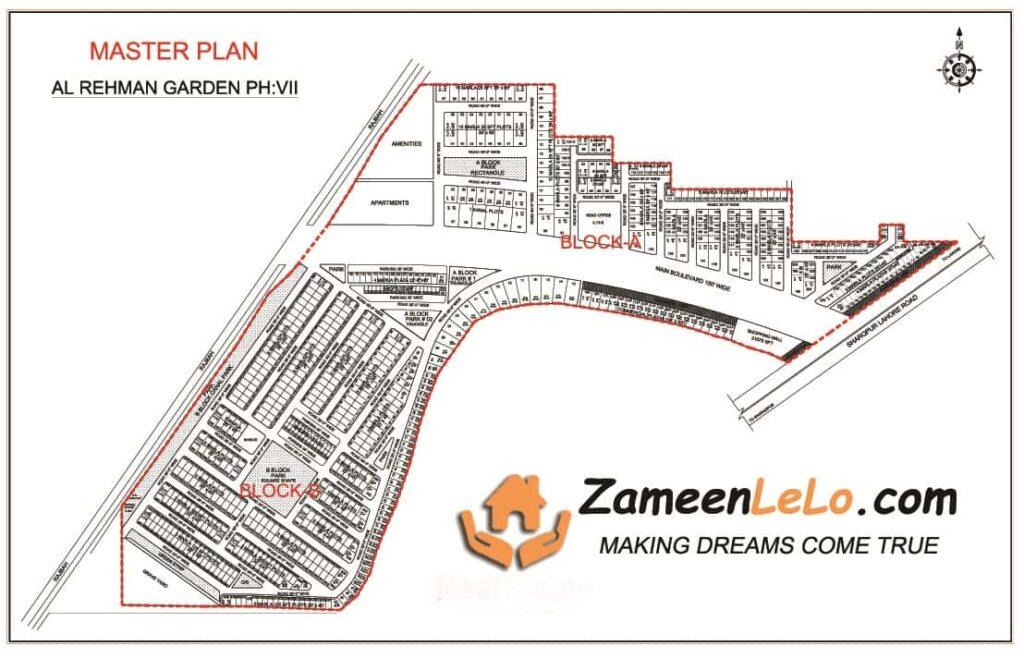 MASTER PLAN Map - Al Rehman Garden PHASE-7