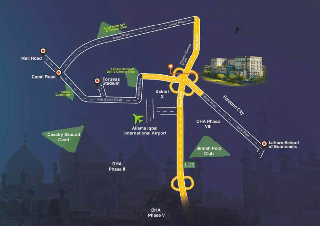 Pace-Circle-Lahore-Location-Map