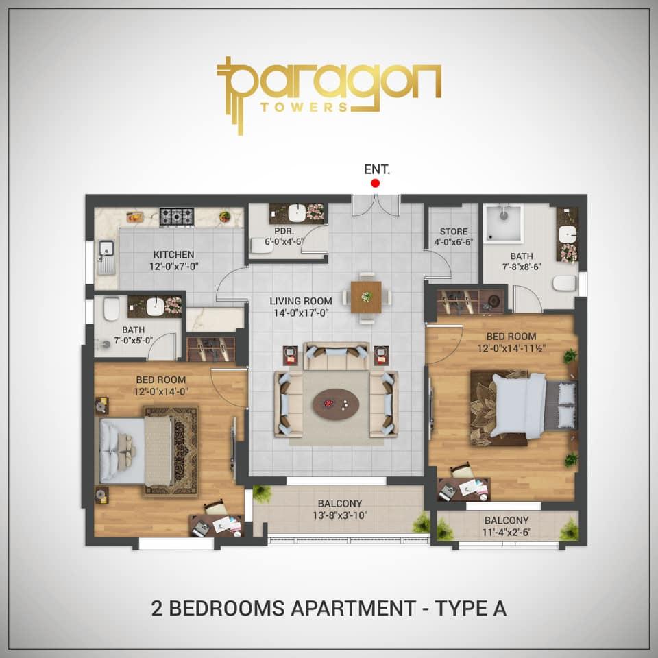 Paragon-Towers-Karachi-Floor-Layout-Plan