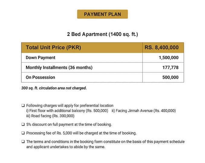 Paragon-Towers-Karachi-appartments-Payment-Plan-and-Price
