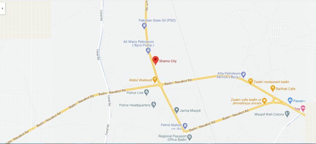 Shams-City-Badin-Location-Map