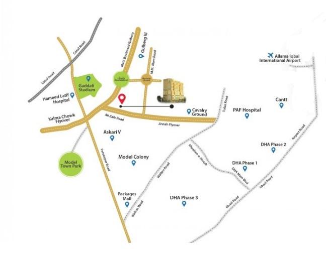 grand-square-mall-lahore-location-map