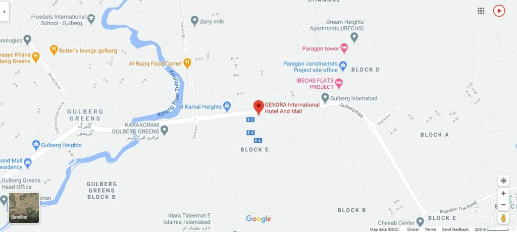 location map gevora international hotel and mall