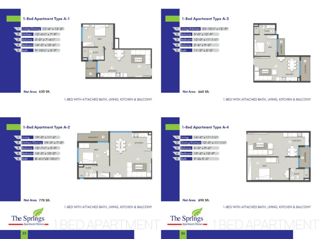 1-Bed-Apartment-layout-plan-map-Type-1-to-4-The-Springs-Apartment-Gulberg-Lahore