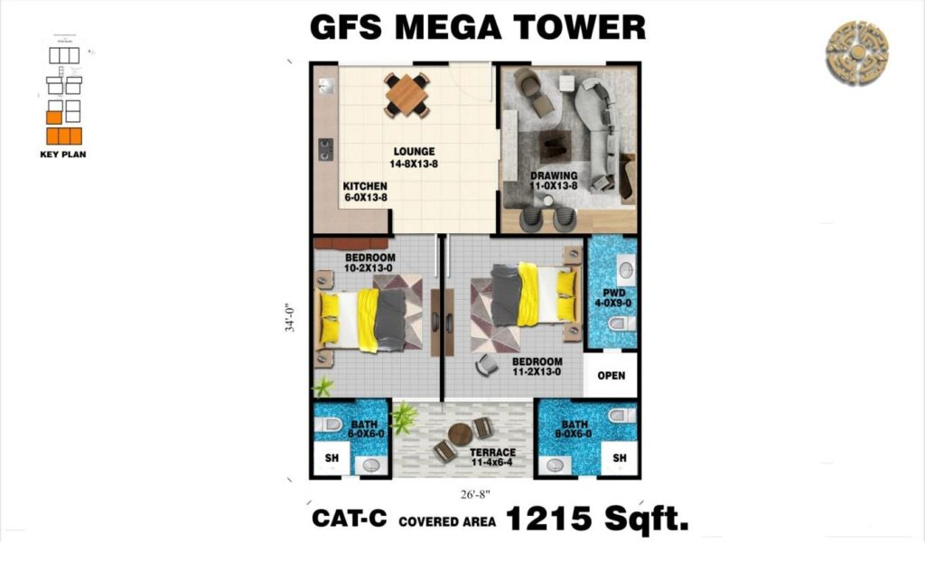 1215-sq-ft-apartment-layout-plan-map-GFS-Mega-Tower