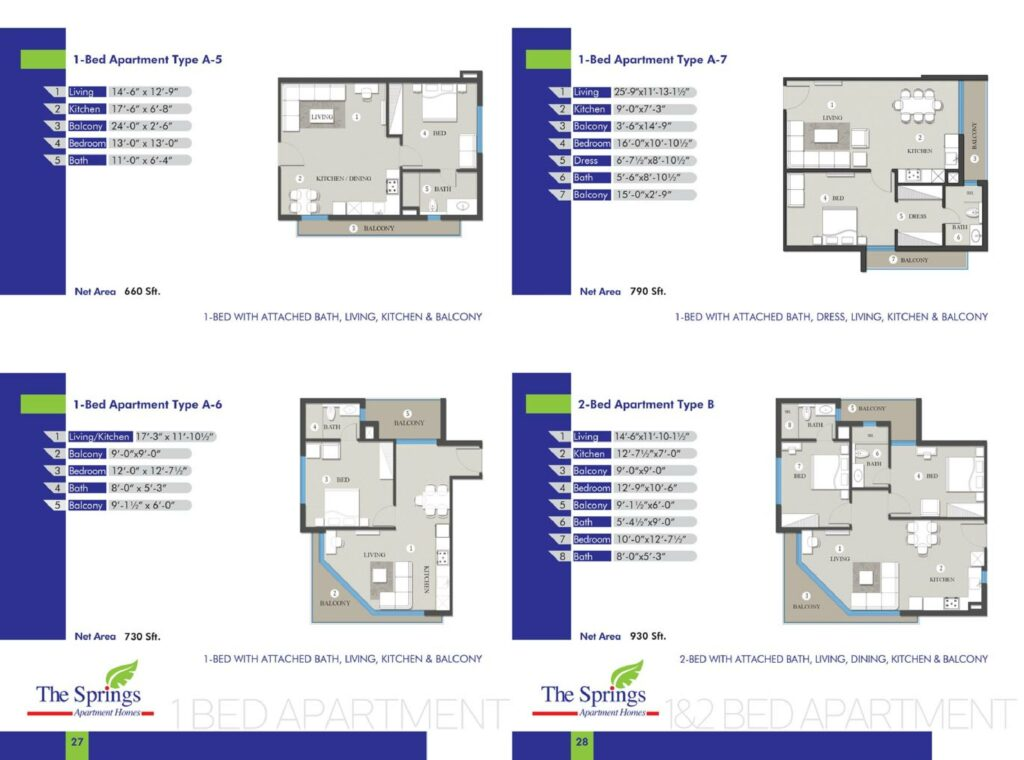 2-Bed-Apartment-layout-plan-map-type-4-to-8-The-Springs-Apartment-Gulberg-Lahore