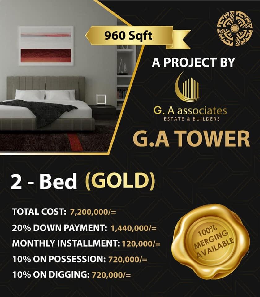 2-bed-gold-Payment-Plan-G.A-Tower-Bahria-Town-Karachi