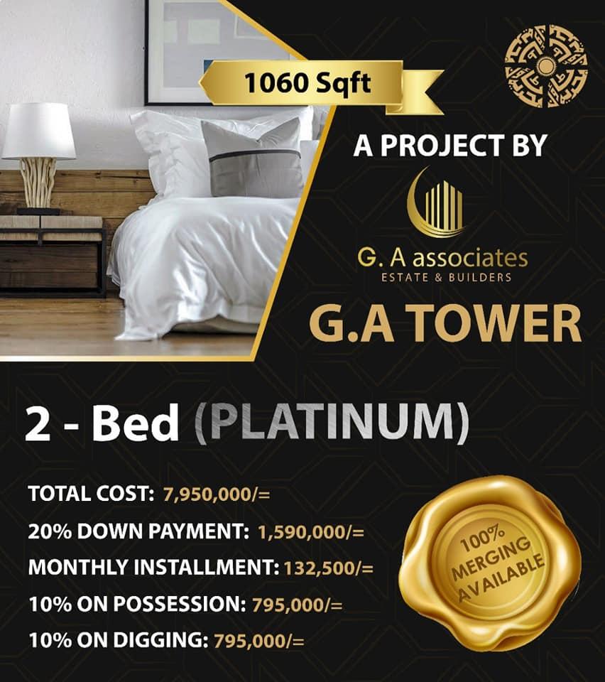 2-bed-platinum-Payment-Plan-G.A-Tower-Bahria-Town-Karachi