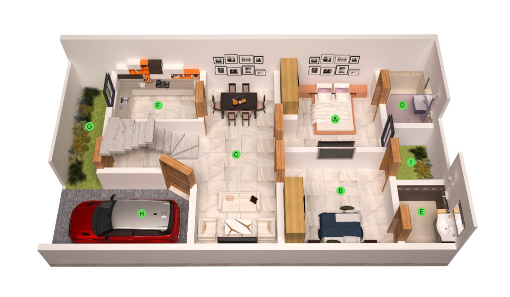 2-bedroom-Ground-Floor-960-SQ.-FT-layout-map-Icon-Homes