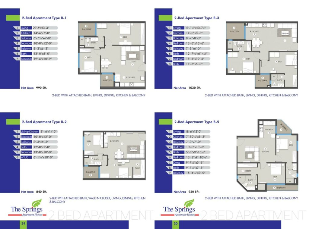 3-Bed-Apartment-layout-plan-map-type-B1-to-B5-The-Springs-Apartment-Gulberg-Lahore