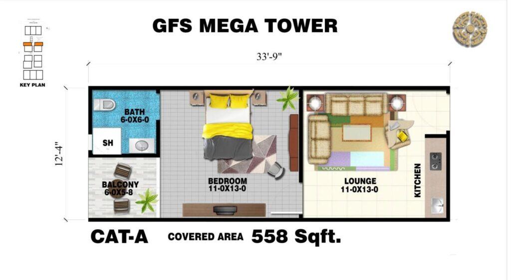 558-sq-ft-apartment-layout-plan-map-GFS-Mega-Tower