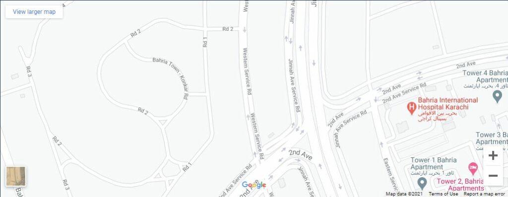 GFS-Mega-Tower-Bahria-town-karachi-Location-Map