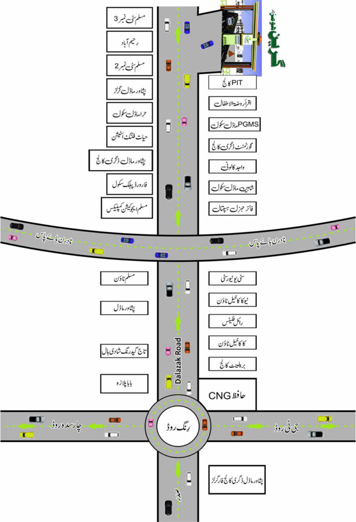 Green-Homes-Peshawar-Location-Map