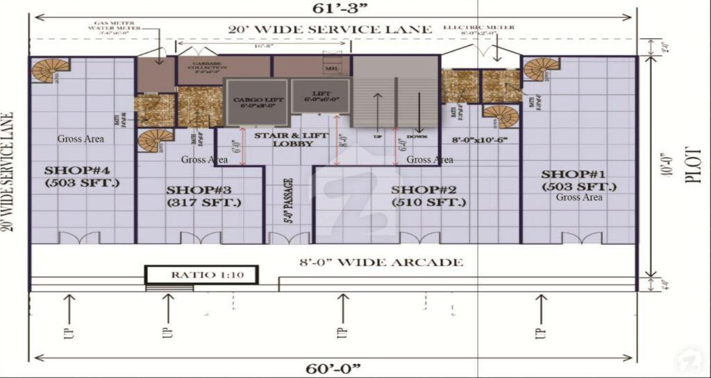 Layout-Plan-Map-G.A-Tower-Bahria-Town-Karachi-2
