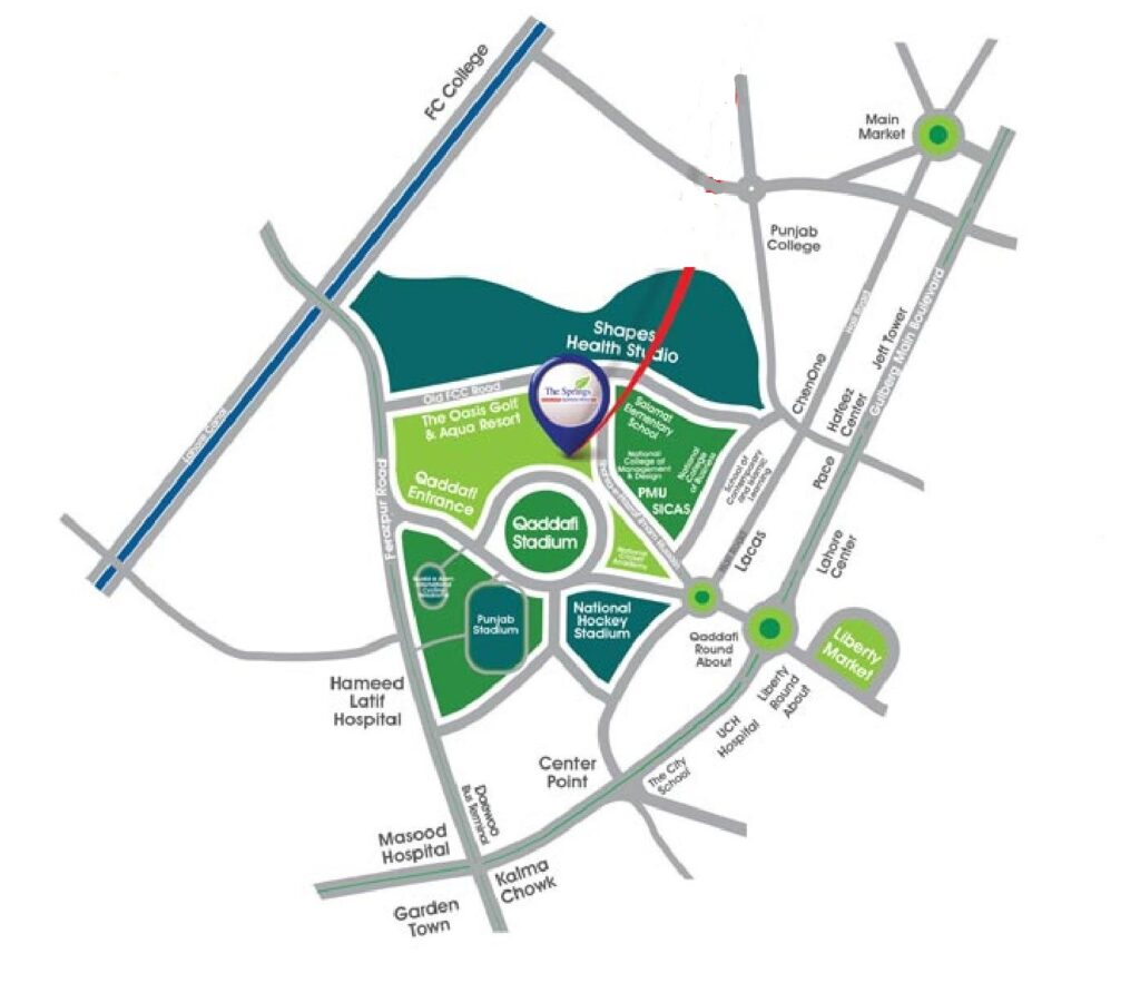Location-The-Springs-Apartment-Gulberg-Lahore