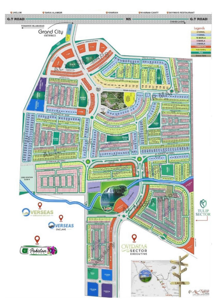 Master Plan Map Grand City Kharian