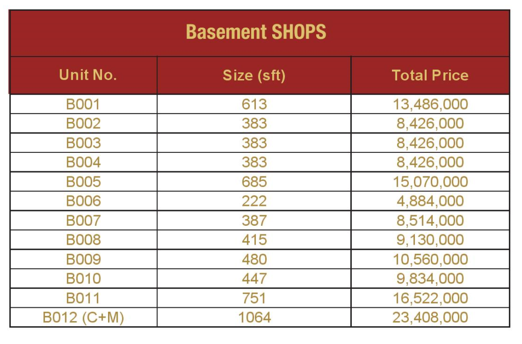 basement-shops-Payment-Plan-and-price-Mall-VIII-mamtaz-city-islamabad