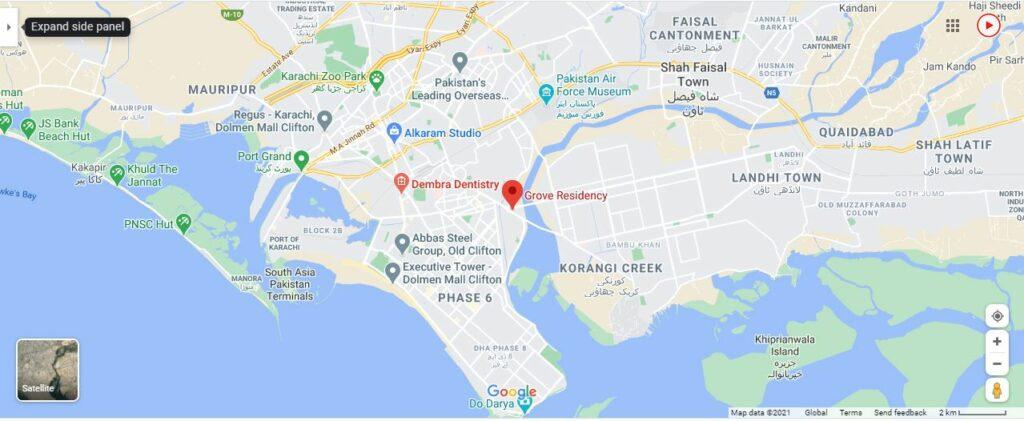 grove-residency-google-location-map